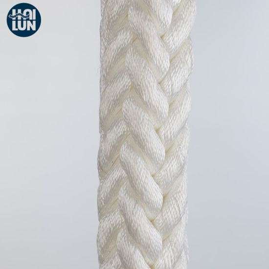 White PP Multifilament Double Braided Mooring Rope