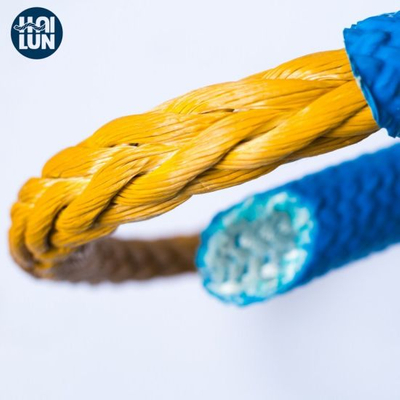 Polyester Cover 12 Strand Synthetic Hmwpe Nylon Marine Towing Rope for Mooring