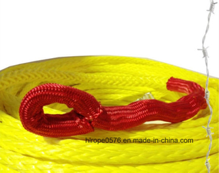 UHMWPE Winch Rope 30mtrs X 10mm Synthetic Cable Yellow