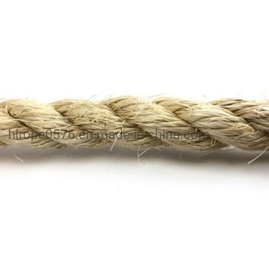 Twist 3/4 Strand Natural Sisal Jute Rope for Marine
