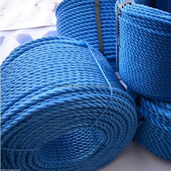 Wholesale 3strand Blue PP Rope Polypropylene Rope Marine Rope for Fishing and Mooring