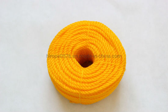 6mm Orange PE3-Strand Rope in Roll, Coil, Twine, 3--Strand PE, PP Twisted Rope