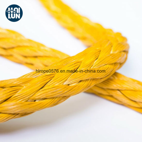 Solid Braided Hmwpe/Hmpe Hawser Mooring Rope