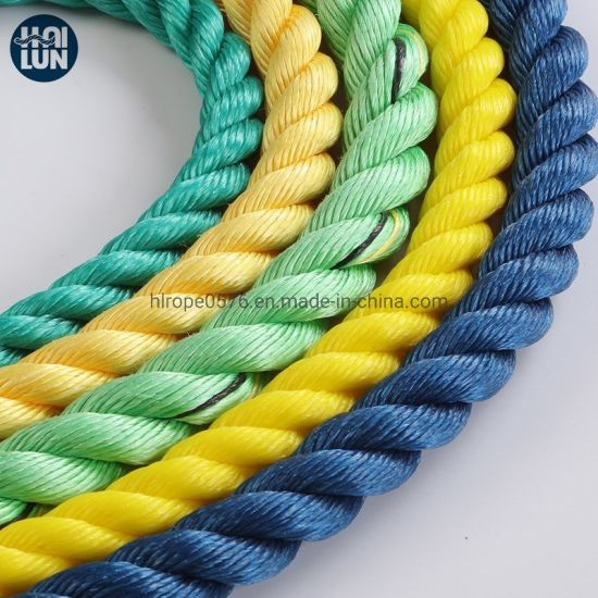3 Strand Polypropylene Rope PP Danline Rope Mooring Rope for Fishing