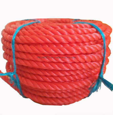 Polypropylene/Polyethylene 3 Strands Twisted PP Danline Rope