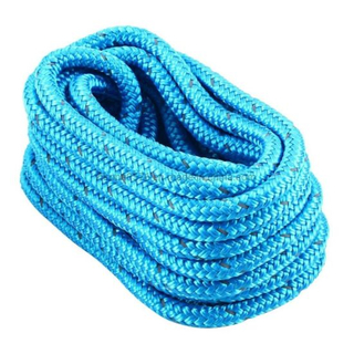 Polyester Braided Fire Rope Marine Blue with Black Tracers