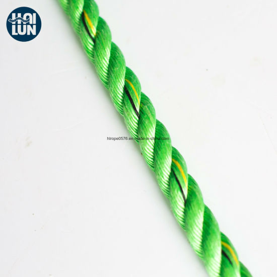 3 Strand Braided Polypropylene PP Danline Rope for Fishing and Mooring