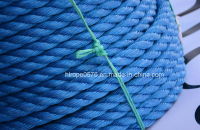 3strand 38mm Twist Blue Polyproplylene Ropes