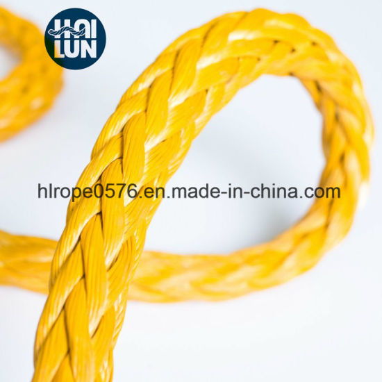 Hot Sell 12 Strand Hmpe/Hmwpe Rope for Mooring and Fishing