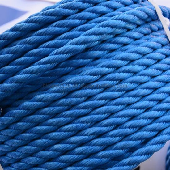 3 Strand Blue Mooring PP Rope Fishing Rope and Mooring Rope