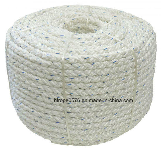 Square Line Mooring Rope 100mt Spool White - 8 Strand - D. 12mm