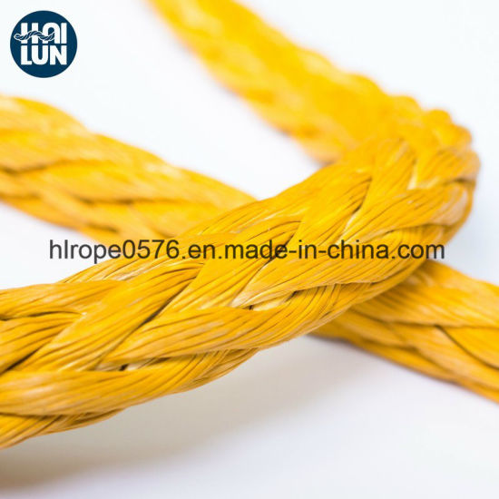 High Density Dynamic 12 Strand Hmpe/Hmwpe Rope for Mooring