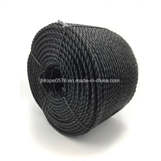8mm Draw Cord Black Polypropylene Rope X 220 Metre Coil