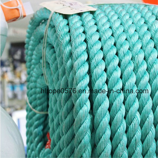3 Strand Green Polypropylene Filament Rope Mooring Rope Nylon Rope
