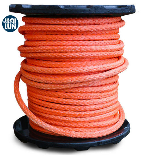 High Strength Hmwpe Double Braid Mooring Boad Rope in Coil