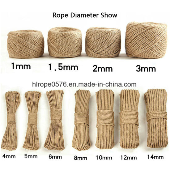 18mm Natural Cotton Rope 100 Metre Reel Unbleached 3 Strand Cotton Rope