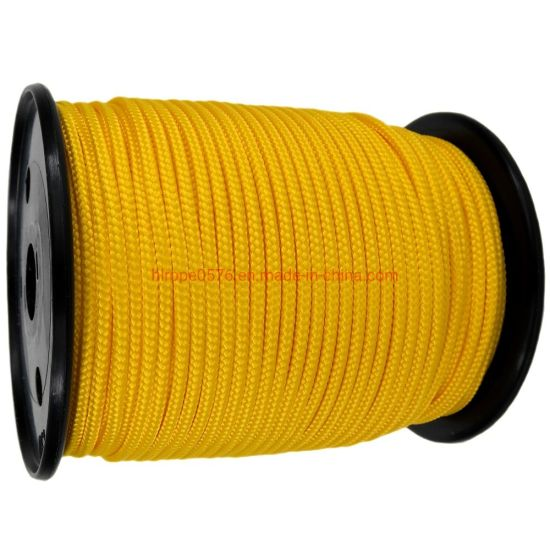 4mm Yellow Polyester Braided Polypropylene Multicord X 200m