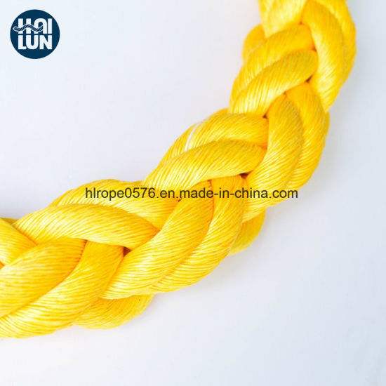Factory Wholesale Yellow Polypropylene Rope for Mooring