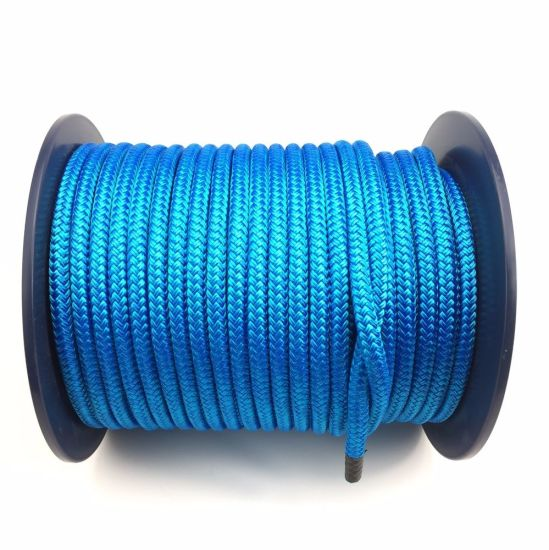 Quality Double Braid on Braid Polyester Rope 8mm 10mm 12mm 14 mm Royal Blue
