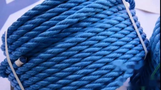 3 Strands Blue Twisted High Quality Towing Polypropylene Boat Ropes