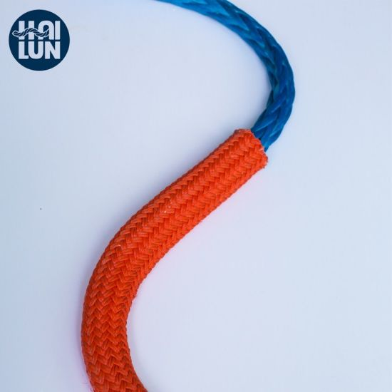 Polyester Cover 12 Strand UHMWPE/Hmpe Hmwpe Nylon Marine Towing Rope