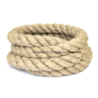 60mm Jute Rope Natural 3 Strand Twisted