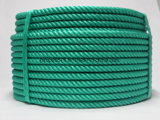 White 3 Strand 16mm Polypropylene Green Braided Anchor Rope