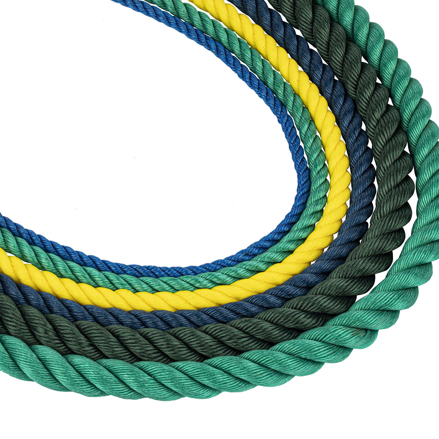 High Strength 8/12 Strand Hawser Polypropylene PP Mono Monofilament Nylon Marine Towing Rope for Mooring