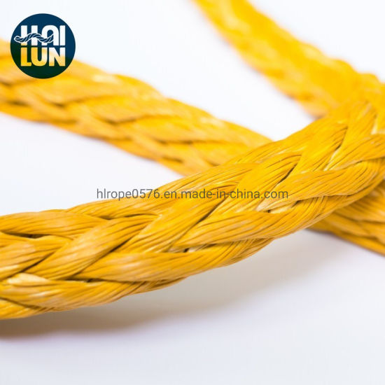 Polyester Cover 12 Strand Synthetic UHMWPE/Hmpe Hmwpe Nylon Fishing Towing Rope for Mooring Offshore